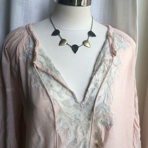 ⭐️Lucky Brand, pave and brass, reversible necklace